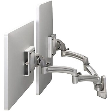 Chief® (MIL-CH-K2W220S) Wall Mount Swing Arm with Extension for Dual Monitor Display, Silver