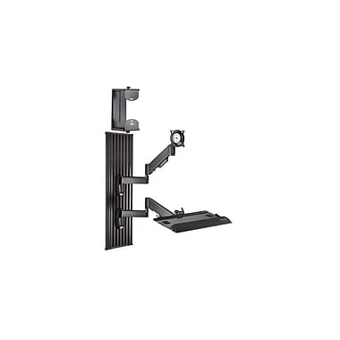 Chief® (MIL-CH-KWT110B) All-in-One Monitor Workstation Wall Mount, 36.2