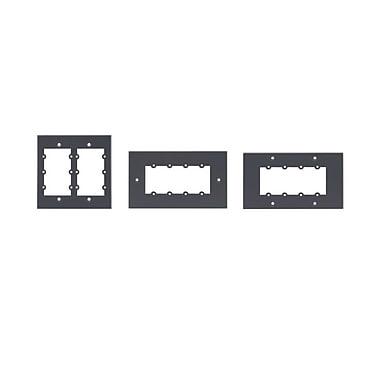 Kramer (KC-FRAME-2G) 2 Gang Frame - Holds 6 Wall Plate Inserts.
