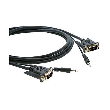 Kramer – Câble micro VGA à 15 broches (M) vers 15 broches (M) + 3,5 mm (C-MGMA/MGMA-10), 10 pi, noir