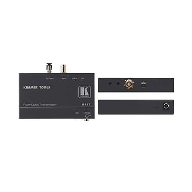 Kramer – (KC-611T) Émetteur vidéo composite par fibre optique (nécessite 611R)