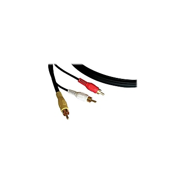 Kramer (C3RVAM/3RVAM-50) 3 Rca (M) To 3 Rca (M) Cable (1 Rg-59 for Video), 50', Black