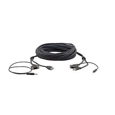 Kramer – Câble pour transfert de données Hd 15 broches, 3,5 mm, + RJ-45 (M-M) (C-GMAC/GMAC-25), 25 pi, noir