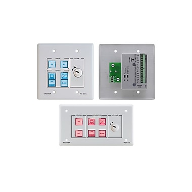 Kramer (KC-RC-63A) 6 Button Room Controller. Ir Learning. Analog Audio Knob and Printed Group Labels
