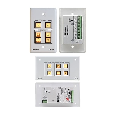 Kramer (KC-RC-62) 6 Button Room Controller. Ir Learning. Printed Group Labels