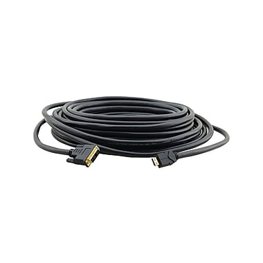 Kramer (KC-CP-HM/DM-25) HDMI (M) To Dvi-D(M) Plenum Rated Video Cable, 25', Black