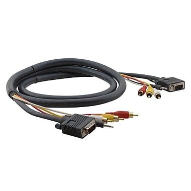Kramer – Câble HydraMC à connecteurs HD 15 broches, 3,5 mm et 3 RCA (M-M) (KC-C-MH1/MH1-75), câble moulé, 75 pi