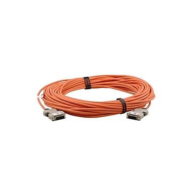 Kramer – Câble vidéo tout en fibre optique à connecteur DVI-D (M) vers DVI-D (M) (C-AFDM/AFDM-66), 66 pi, orange