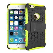 "GearIT Apple iPhone 6 4.7"" Heavy Duty Armor Hybrid Rugged Stand Case, Green"