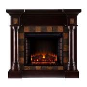 SEI Carrington Wood/Veneer Electric Floor Standing Fireplace