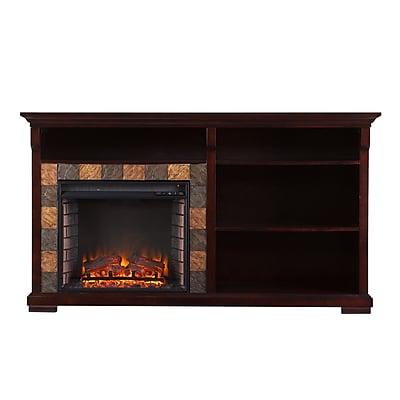 SEI Gatlinburg Bookshelf Wood/Veneer Electric Floor Standing Fireplace, Espresso