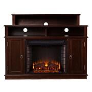 SEI Lynden Wood/Veneer Electric Floor Standing Fireplace, Espresso