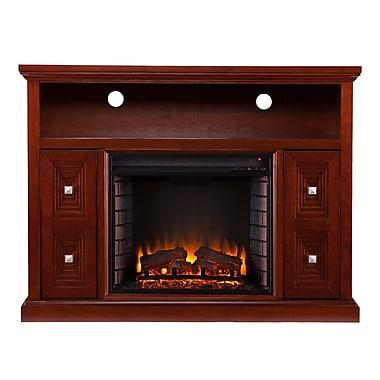 SEI Creston Wood/Veneer Electric Floor Standing Fireplace, Cherry