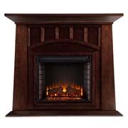 SEI Lowery Wood/Veneer Electric Floor Standing Fireplace, Espresso
