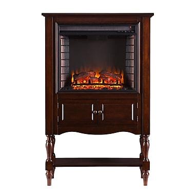 SEI Providence Wood/Veneer Electric Floor Standing Fireplace, Mahogany