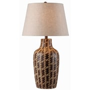 "Kenroy Home Council 32560TBW 30"" Table Lamp, Tan/Brown Weave"