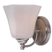"Kenroy Home Woodhill 93521BS 8"" x 7"" 1-Light Wall Sconce, Brushed Steel"