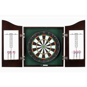 Carmelli BG1041CH Centerpoint Hard Wood Dartboard & Cabinet Set, Dark Cherry