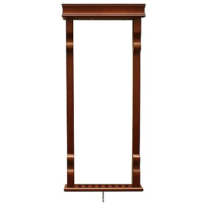 Hathaway BG2571W Vintage Wall Billiard Pool Cue Rack, Antique Walnut