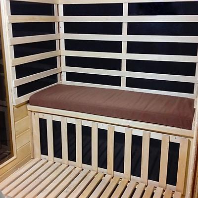 Radiant SA5052 Sauna Seat Cushion Pad for 2-Person, Brown