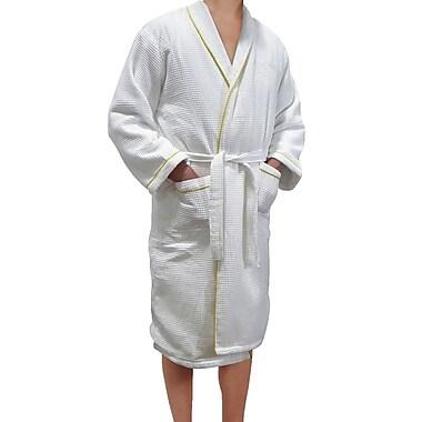 Radiant SA5120 European Spa & Bath Waffle Weave Terry Cloth Robe, White