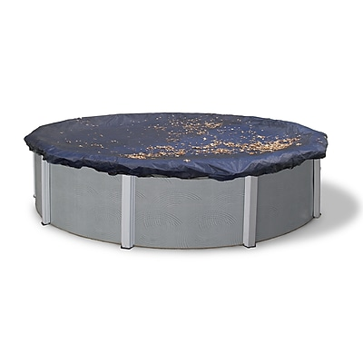 Arctic Armor BWC512 Black Round Above-Ground 4 Year Leaf Net Pool Cover, 33'