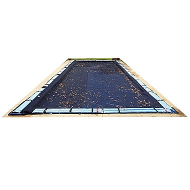 Arctic Armor BWC558 Black Rectangular In Ground 4 Year Leaf Net Pool Cover, 20' x 36'