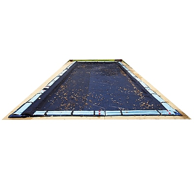 Arctic Armor BWC552 Black Rectangular In Ground 4 Year Leaf Net Pool Cover, 16' x 28'