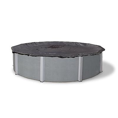 Arctic Armor BWC610 Black Round Above-Ground 8 Year Winter Pool Cover, 32'