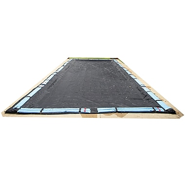 Arctic Armor BWC654 Black Rectangular In Ground 8 Year Winter Pool Cover, 18' x 32'