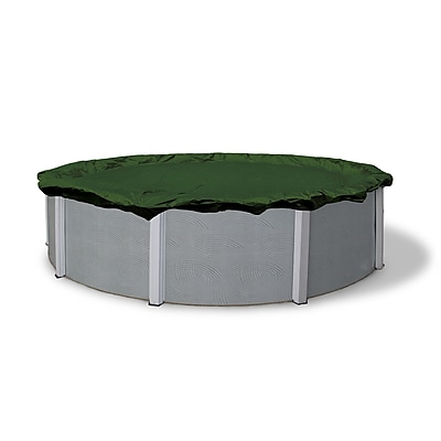 Arctic Armor BWC800 Green Round Above-Ground 12 Year Winter Pool Cover, 16'
