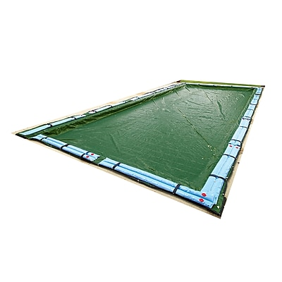 Arctic Armor BWC864 Green Rectangular In Ground 12 Year Winter Pool Cover, 34' x 54'