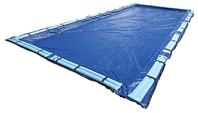 Arctic Armor BWC976 Blue Rectangular In Ground 15 Year Winter Pool Cover, 34' x 64'