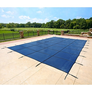 Arctic Armor BWS360B Blue Rectangular In Ground 12 Year Pool Safety Cover, 20' x 38'