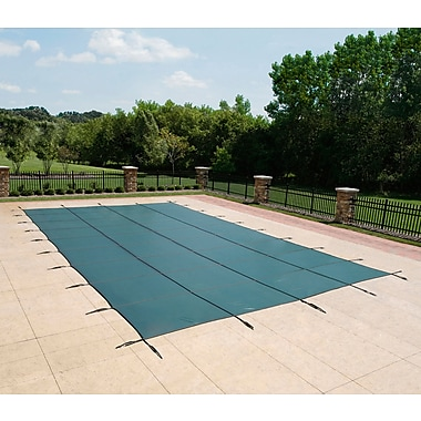 Arctic Armor BWS390G Green Rectangular In Ground 12 Year Pool Safety Cover, 22' x 42'
