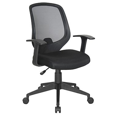 OFM Essentials Fabric Managers Office Chair, Fixed Arms, Black (845123025123)