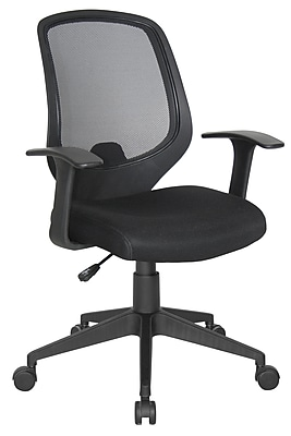 Essentials by OFM Mesh Swivel Task Chair with Arms, Black, (E1000)