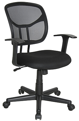 Essentials by OFM Computer and Task Chair, Black, (E1001)