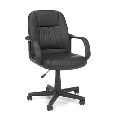 OFM™ Essentials Vinyl Executive Conference Chair, Black (E1007)