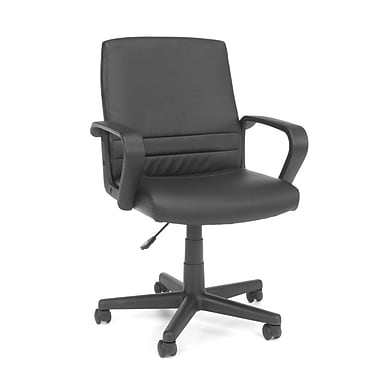 OFM™ Essentials Vinyl Mid-Back Executive Chair, Black