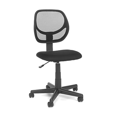 OFM Essentials Fabric Computer and Desk Office Chair, Armless, Black (845123032435)
