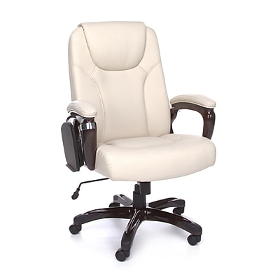 OFM ORO Series Metal Managers Office Chair, Fixed Arms, Cream (845123039199)