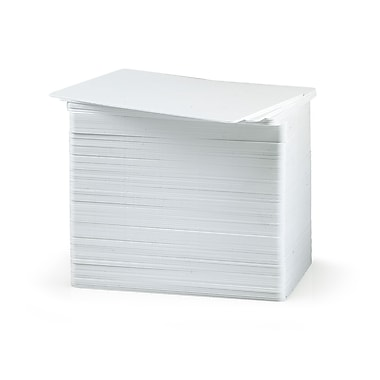 Evolis 100 Blank Thick Cards, White