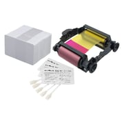 Badgy Evolis Ribbon for Badgy1 printer, 100 Thick Cards and Cleaning Kit