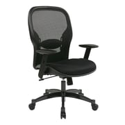 Space Breathable Mesh Back and Seat Managers Chair, Black