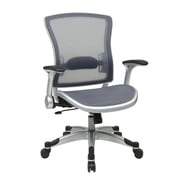 Space Professional Light AirGrid Back and Seat Chair with Flip Up Arms