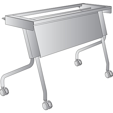 Office Star 4' Training Table Frame, Titanium