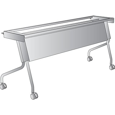 Office Star 6' Training Table Frame, Titanium