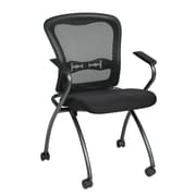 Pro-Line Deluxe Folding Chair with ProGrid Back, Black, 2/Pack