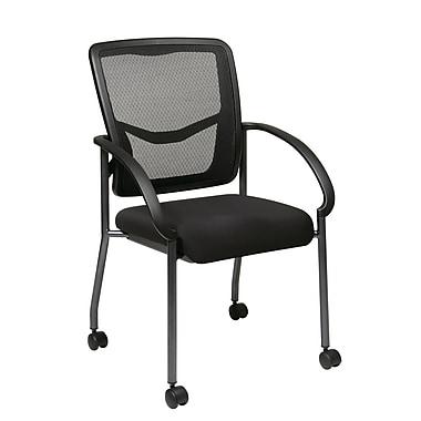 Pro-Line – Chaise d'invité avec dossier ProGrid et roulettes, noir